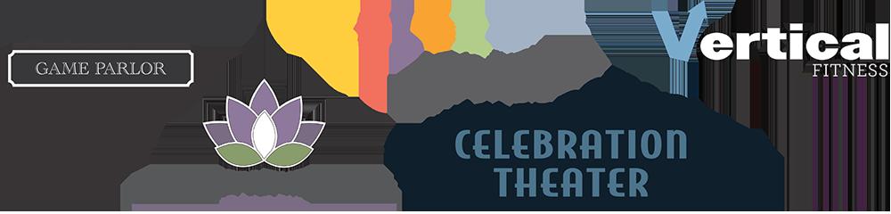 Franks Place, Colors Art Studio, Vertical Fitness, Rejuvenate Salon and Spa, Celebration Theater